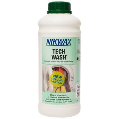 New Nikwax Tech Wash 1L Fabric Washing Treatment Multi Cleaning