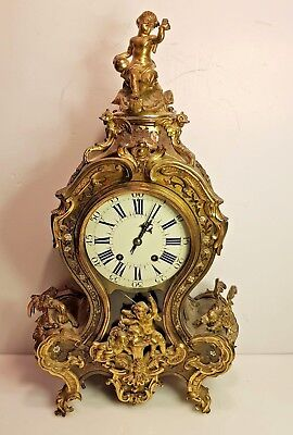 Antique French Green Boulle Bracket Clock For Restoration Roblin & Fils Paris