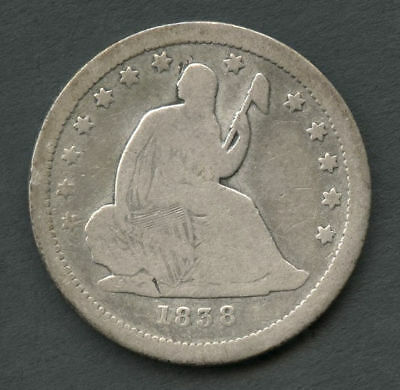 1838 Seated Liberty Silver Quarter Raw