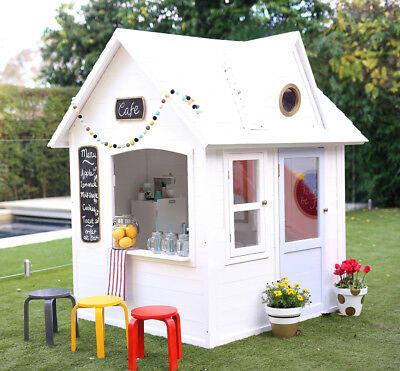 HipKids PIPER  Cubby Backyard Small Wooden playhouse For Kids