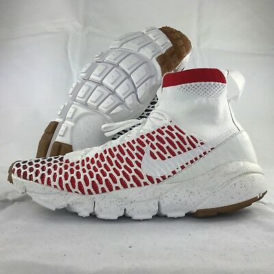 new styles 86988 7d76a Nike NikeLab Air Footscape Magista SP England White Red 652960-100 Men s 7.5