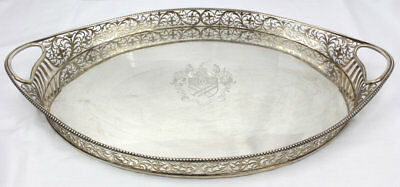South African Diamond Barons Massive Sterling Silver Butler's Tray c1898