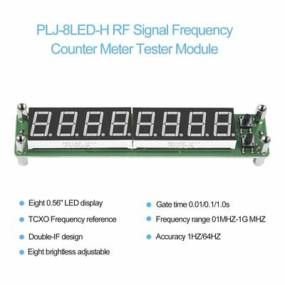 PLJ-8LED-H RF Signal Frequency Counter Meter Tester Module 0.1~1000MHz LED CW