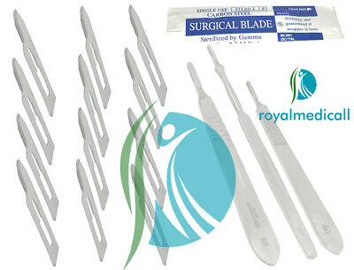 Surgical Scalpel Handle No.3,4,7 With Blades Set Multi Purpose Blades & Handle