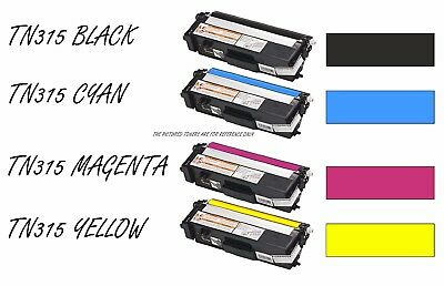 4pk TN315 TN310 HiYield Black Cyan Yellow Magenta Toner Cartridge for Brother