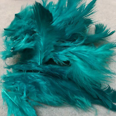 TURQUOISE FEATHERS (x30) - Art/Furnishing/Hats/Dreamcatchers/Crafts!