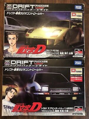 Initial D Takara Tomy Drift Package Light D Tuned Motor AE86 RX-7 FD3S RC Cars