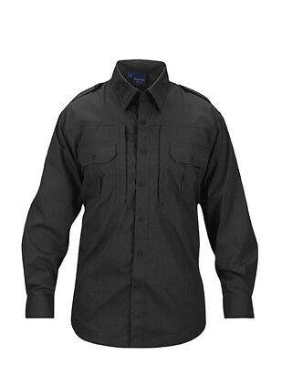 PROPPER Mens Small Long-Sleeve Tactical Combat Police Security Shirt Black S $70