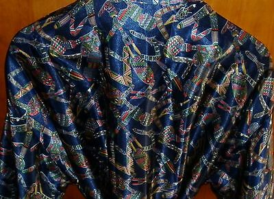Vintage Australian Made Aboriginal Motif Dressing Gown  Excellent Condition