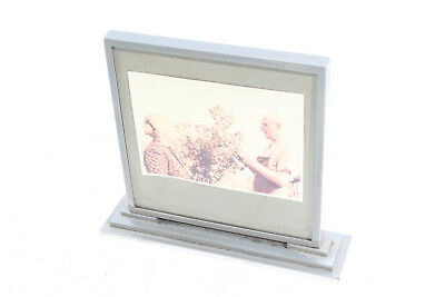 Old Mauthe Table Clock as Picture Frame Metal Frame Alarm Clock Art Deco Bauhaus