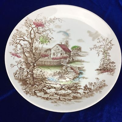 Collector Spring Ironstone Hand Engraving Dinner Plate England Johnson Bros