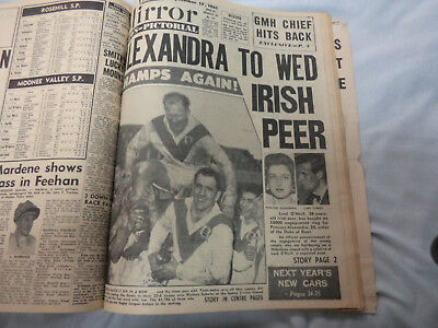 #AA5. WEEKLY MIRROR NEWSPAPER BOUND VOLUME September 18th 1961, R/L GRANDFINAL