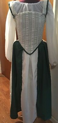 (12-13yrs or XS) Miss Evergreen 4 Piece Renaissance Outfit