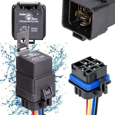 40/30 Amp Waterproof Relay Switch Harness Set 12V DC 5-Pin SPDT Relays 12 NEW