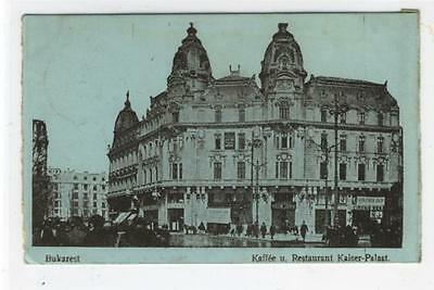 AK Bucuresti, Bukarest, Kaffee u. Restaurant Kaiser-Palast 1918