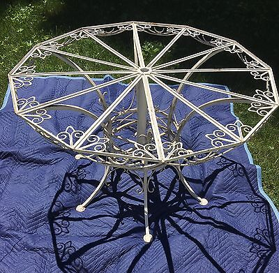 Unique Geometric Polygon Antique 19th Century French Wrought Iron Center Table