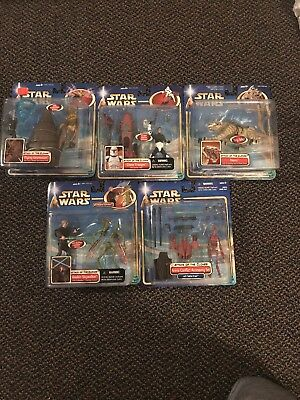 2002 Star Wars Attack of the Clones5 Figure Collection