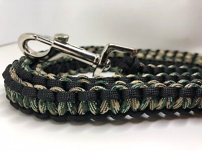 Dog Leash/Lead Camo Camouflage ADD DOGS NAME 2 3 4 5 6 Feet Army Green Paracord