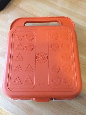Vintage Orange/White Tupperware Lunch Box With Road Signs