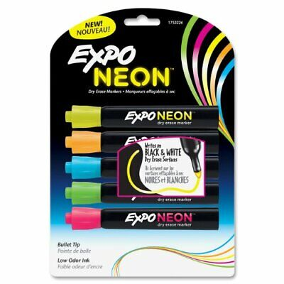 Expo 1752226 Dry Erase Marker - Bullet Marker Point Style - Neon Yellow, Neon