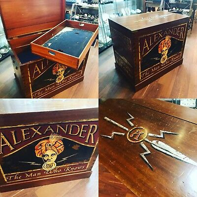 """Antique Travelling Chest. Mahogany """"Alexander The psychic"""" Offers?"""