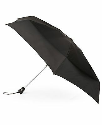 Nwt $95 Totes Auto Open Close Black Vented Stick Umbrella Clear Rain Golf Size
