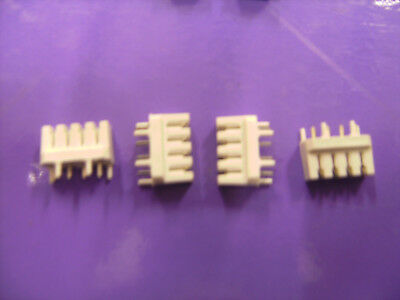 45 PIECES OF 4mm IDC 4 WAY CONNECTORS FOR PCB