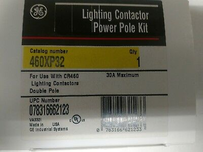 New Ge 2 Pole 30 Amp Lighting Contactor Power Pole  Cr460Xp32