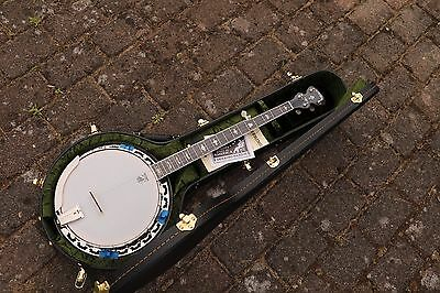 NEU Deering White Lotus Bluegrass 5S Banjo mit Case Made in USA