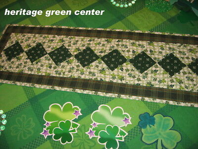 NEW Custom Quilted Table Runner Longaberger Lots of Luck Shamrock St Patrick's