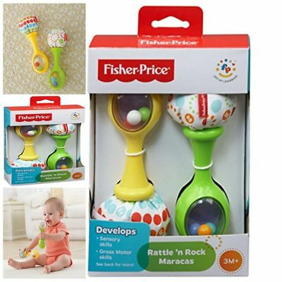 Maracas Musical Baby Toy New Rattle Rock Infant Fisher Price Cute Soft Toys Gift