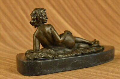 Huge Sale VINTAGE  BRONZE METAL NUDE ABSTRACT FEMALE MOD SCULPTURE HOT CAST