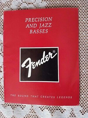1986 Fender Precision and Jazz Basses Owners Manual Original Vintage Case Candy