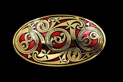 Celtic Lands Fine Enamels 22 ct Gold Plated By Sea Gems Enameled Brooch Pin