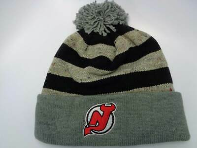 0af227d62b62c6 New Jersey Devils Mitchell & Ness NHL Spackled Beanie Oatmeal Knit Toque Hat  Ca