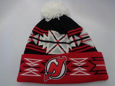 b2385359640e72 New Jersey Devils Mitchell & Ness NHL Knit Geotech Cuffed Toque Hat Cap  OSFM Be