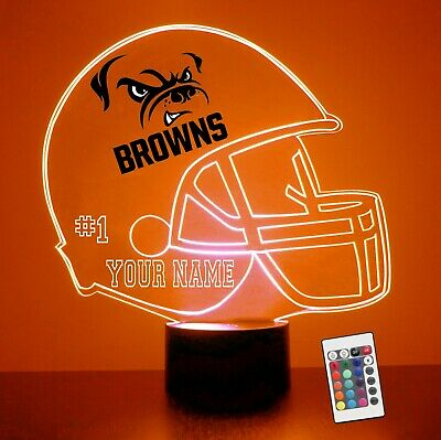 Cleveland Browns NFL Football Personalized FREE Light Up 3D Illusion LED
