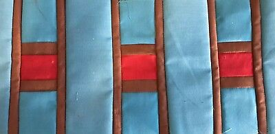 Seminole Design Patchwork 14 YARDS TURQUOISE AND BROWN COLORS
