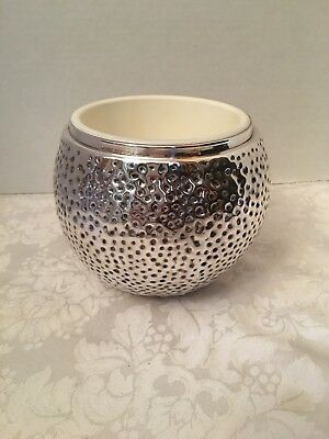 Vintage Sheffield England Silverplate Hammered Bowl Planter