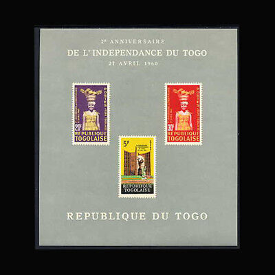Togo, Sc #427a, MNH, 1962, S/S, Independence, CL041F