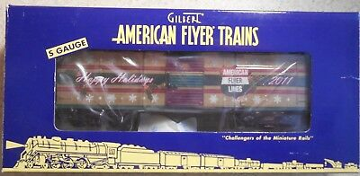 American Flyer S Gauge Af 2011 Christmas Holiday Boxcar--Item #6-48394