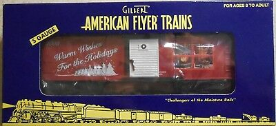 American Flyer S Gauge 2008 Warm Wishes For The Holidays Boxcar--Item #6-48374