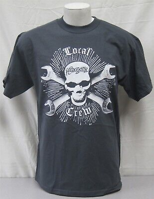 Aerosmith Official Local Crew shirt Concert Tour NEVER WORN Large skull wrenches