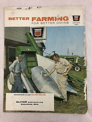 Vintage Better Farming Oliver Equipment Tractors Autumn Issue 1963 Columbus, OH