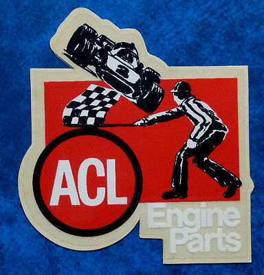 ACL  ENGINE PARTS .. Original Vintage  1980,s Auto products sticker