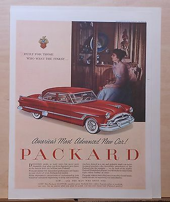 1953 magazine ad for Packard -  red Clipper, America's Most Advanced New Car!