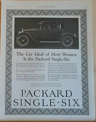 1924 magazine ad for Packard - Car Ideal of Most Women, Packard Single-Six