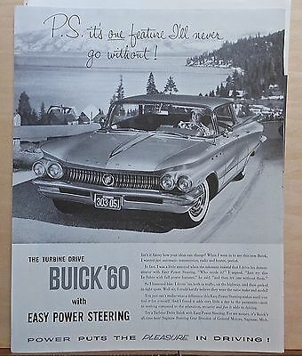 1960 magazine ad for Buick - Turbine Drive '60 Buick with Easy Power Steering