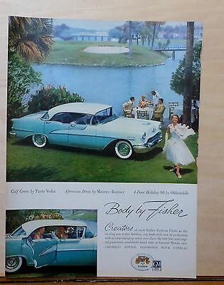 1955 magazine ad for Oldsmobile - Holiday 98 at Ponte Vedra Golf course