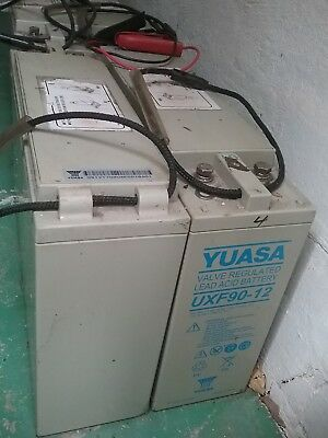 4 x YUASA UXF90-12 Valve Regulated Lead Acid Batteries